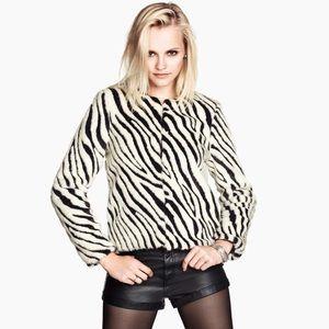 H&M Zebra Fur Jacket